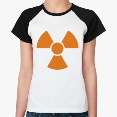 Женская футболка реглан radioactive
