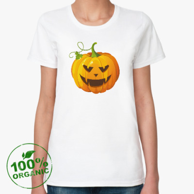Женская футболка из органик-хлопка Тыква