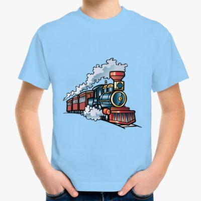 Детская футболка Старинный паровоз