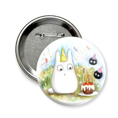 Значок 58мм Chi Totoro's B-day