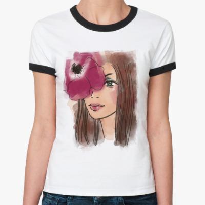 Женская футболка Ringer-T Тайна в твоих глазах