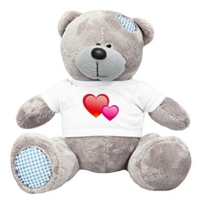 Плюшевый мишка Тедди Сердечки