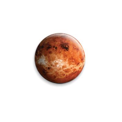 Значок 25мм Планета Венера