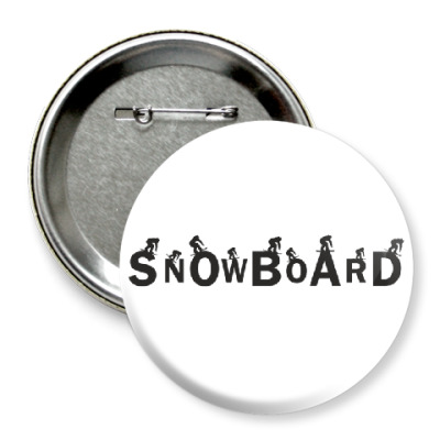 Значок 75мм Snowboard