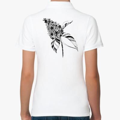 Женская рубашка поло Ветка сирени