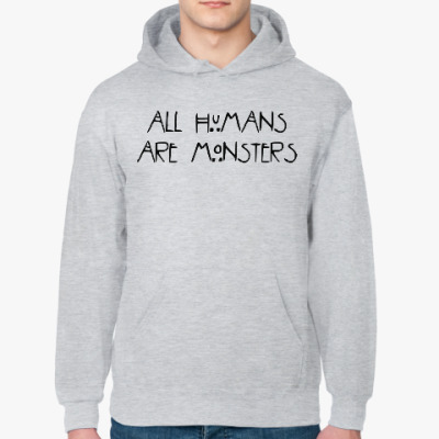 Толстовка худи All humans are monsters