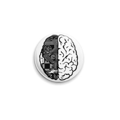 Значок 25мм Мозг Geek'a