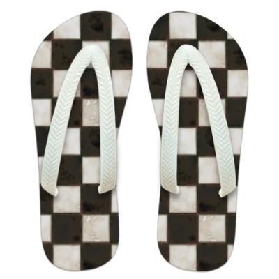 Шлепанцы (сланцы) Checkerboard