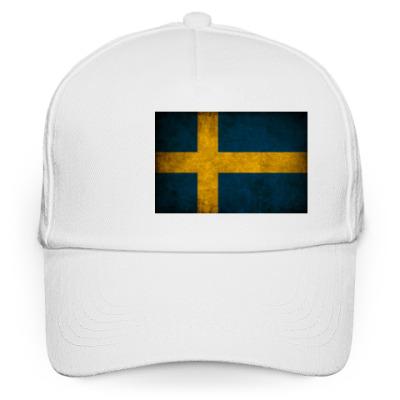 Кепка бейсболка 'Шведский флаг'