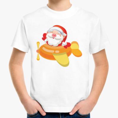 Детская футболка Дед Мороз к нам мчится