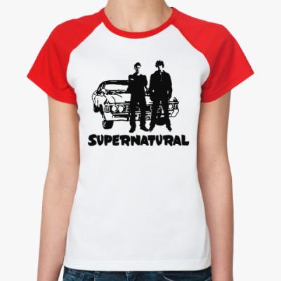 Женская футболка реглан Supernatural Impala