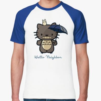 Футболка реглан Hello Totoro