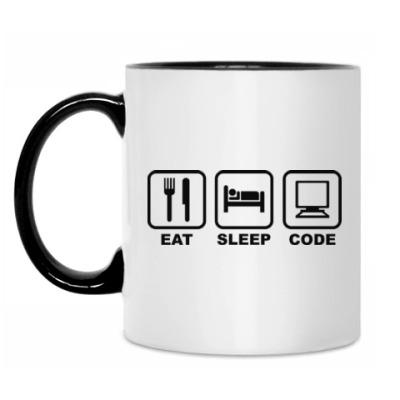 Кружка Eat Sleep Code