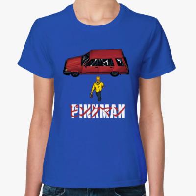 Женская футболка Pinkman car