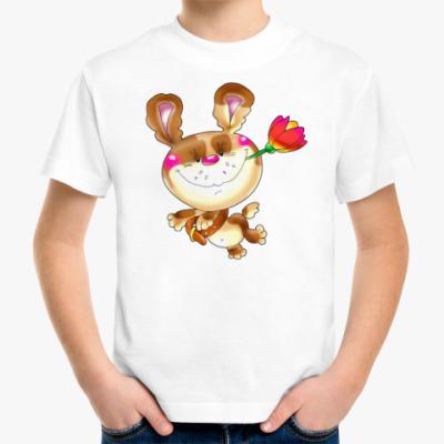 Детская футболка ПЁС С ТЮЛЬПАНОМ