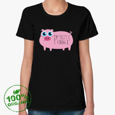 Женская футболка из органик-хлопка Я вкусный