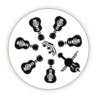 Костер (подставка под кружку) Другая музыка