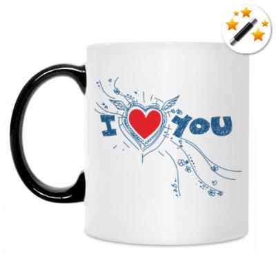 Кружка-хамелеон I LOVE YOU