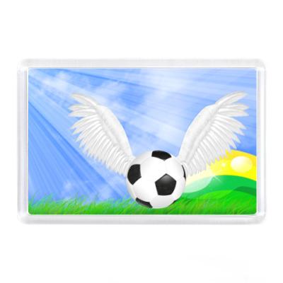 Магнит Футбольный мяч в лучах