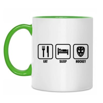 Кружка Eat Sleep Hockey