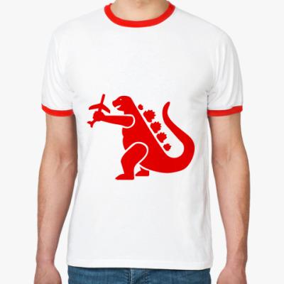 Футболка Ringer-T Дракон Годзи