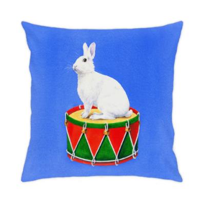 Подушка Заяц на барабане