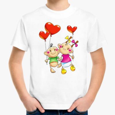 Детская футболка МАЛЫШИ С СЕРДЕЧКАМИ