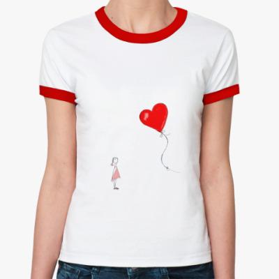 Женская футболка Ringer-T Влюбленные