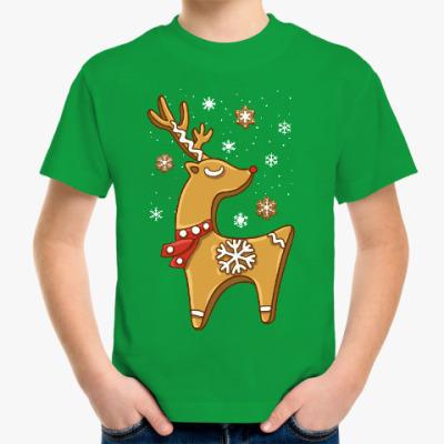 Детская футболка Пряничный олень