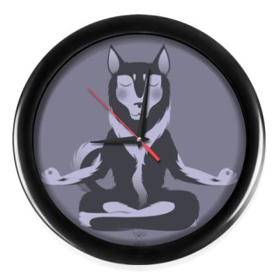 Настенные часы Animal Zen: H is for Husky