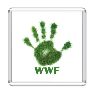 Магнит WWF. Дай пять!