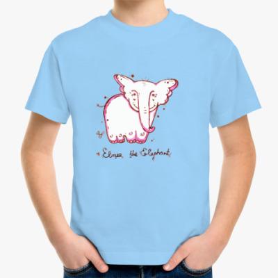 Детская футболка Розовый слон