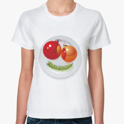 Классическая футболка Новогодняя рожица