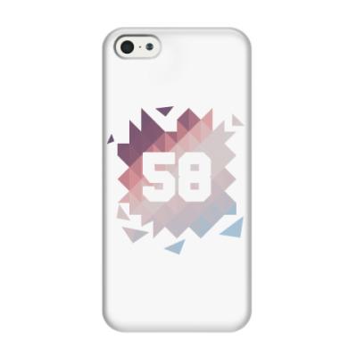 Чехол для iPhone 5/5s Цифра 58 (Low Poly)