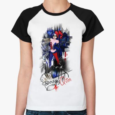 Женская футболка реглан Харли Квинн