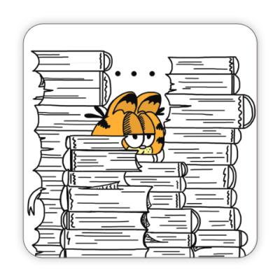 Костер (подставка под кружку) Гарфилд в книгах