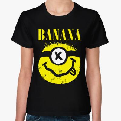 Женская футболка Миньон (Банана)