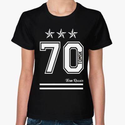 Женская футболка Томск