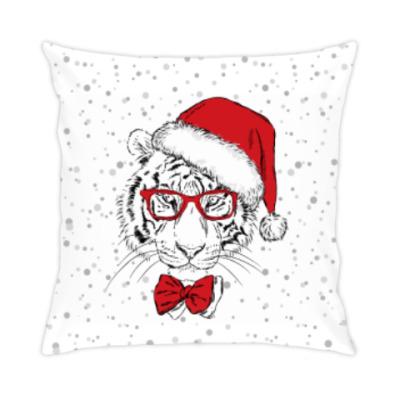 Подушка Тигр Санта Клаус