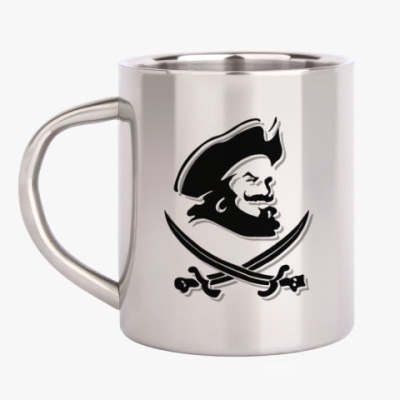 Кружка металлическая Капитан Пират