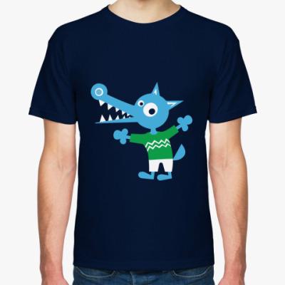 Футболка Синий волчонок