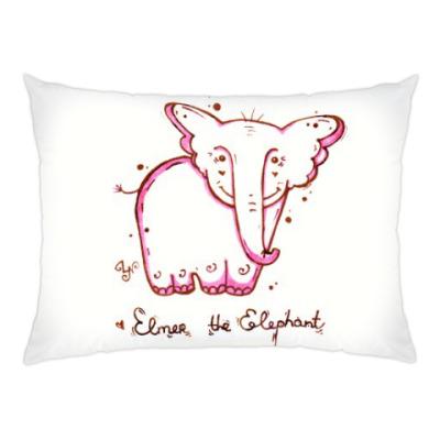 Подушка Розовый слон