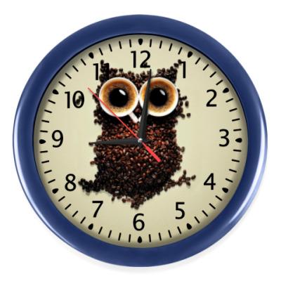 Настенные часы Кофейная сова