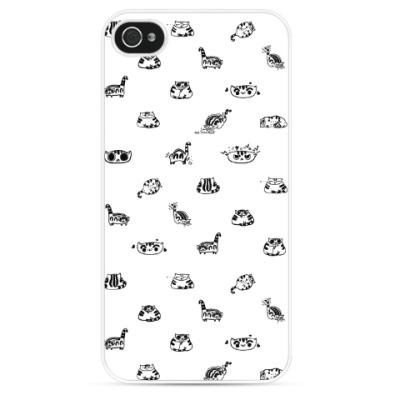 Чехол для iPhone Бурная жизнь котика