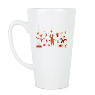 Чашка Латте Новогодние печеньки