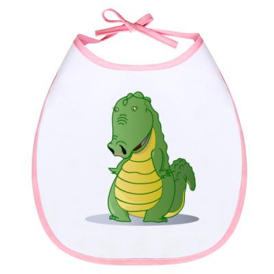 Слюнявчик крокодильчик