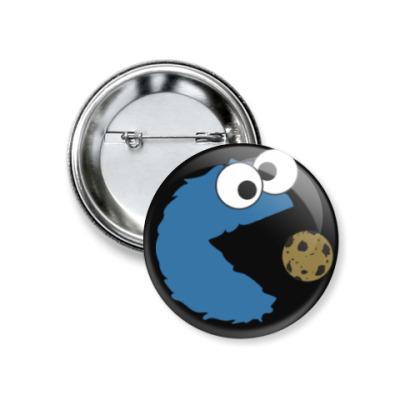 Значок 37мм Cookie pac-monster