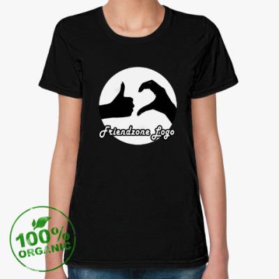 Женская футболка из органик-хлопка Friendzone logo