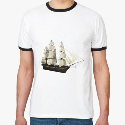 Футболка Ringer-T корабль