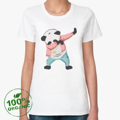 Женская футболка из органик-хлопка Панда даб